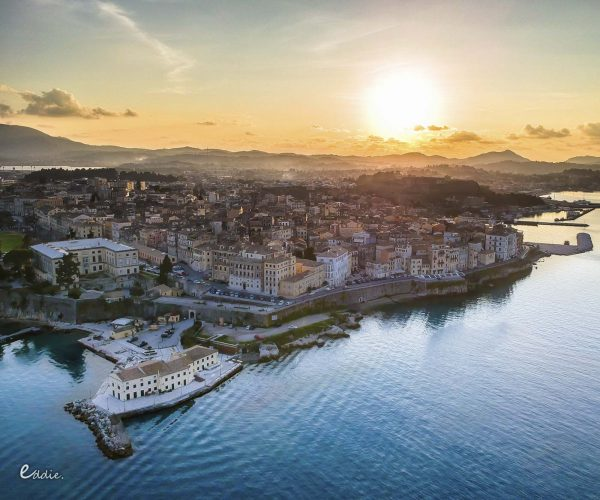 corfu grand tour cruise luxury exursion old town sunset 09